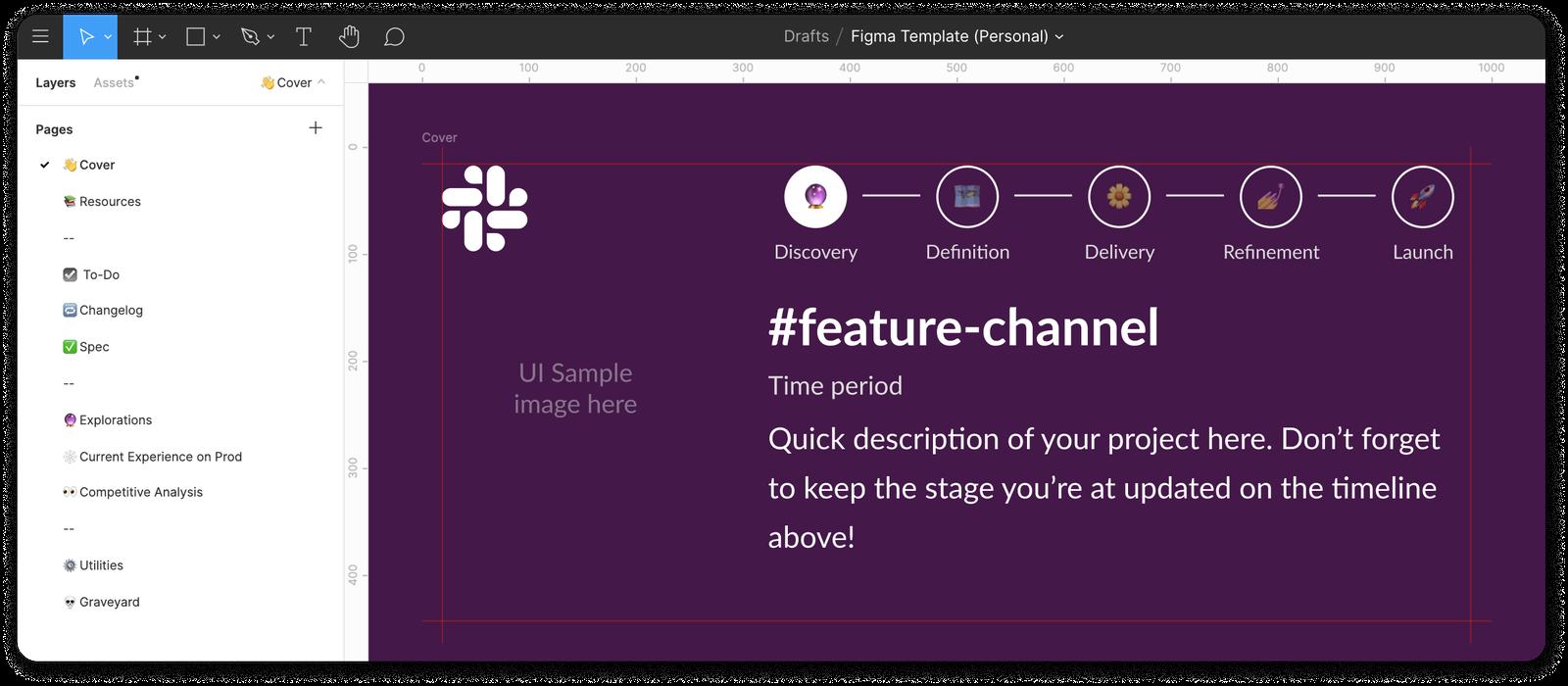 screenshot of Slack's figma template