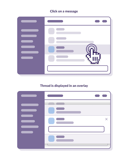 wireframe of reply with a modal treatment that pops up when you click it